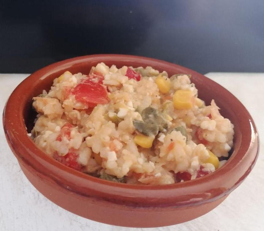 ensalada de arroz en mambo