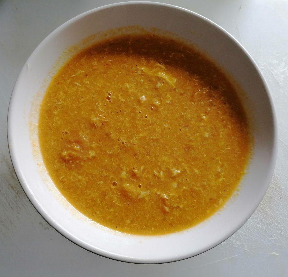 sopa pobre de cebolla en mambo
