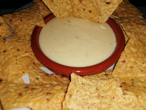 salsa de queso para nachos en mambo