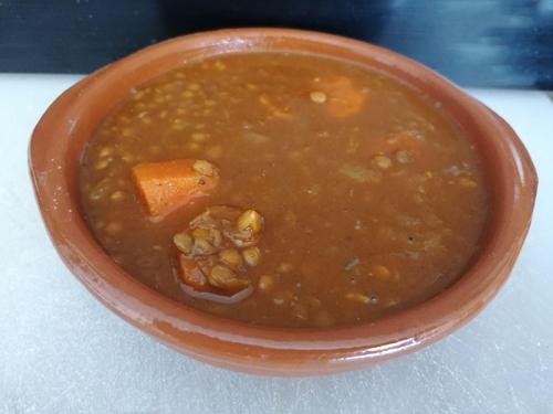lentejas al curry con zanahorias
